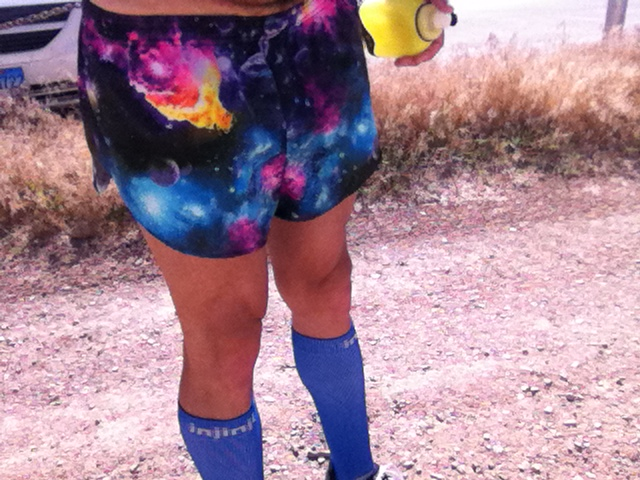 "During the run I got a ""AWESOME SHORTS, BOSS! FUCK YEAH!"" from a guy talking on his phone. We crossed paths at a corner so he had little time to think and was so inspired by the Cosmic Shorts that he felt the need to interrupt his conversation and that just came (loudly) out of his mouth through instinct."