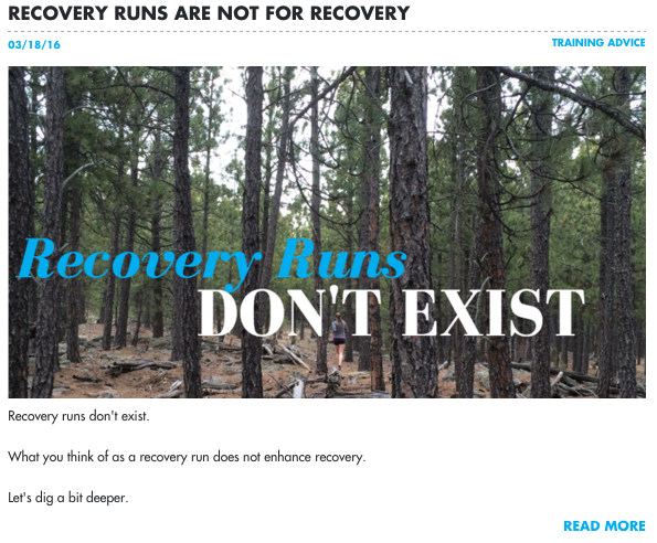 Recovery runs do not exist