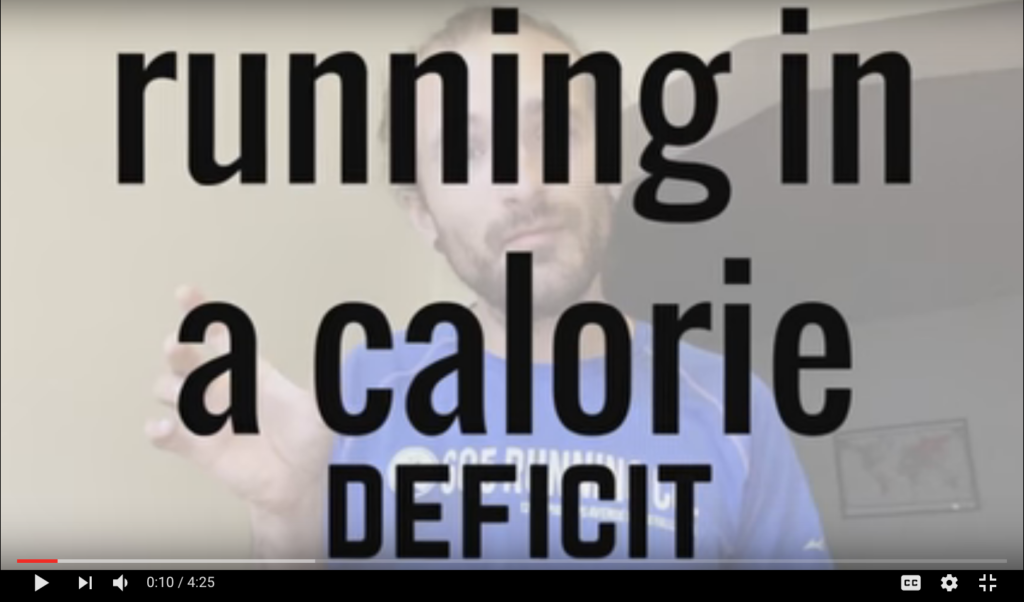 How to run in a calorie deficit
